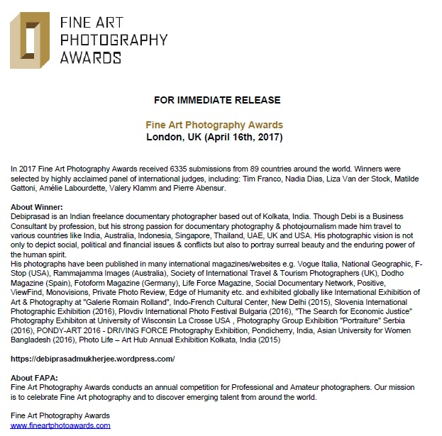 Fine Arts Photo Award