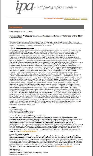 IPA Press Release